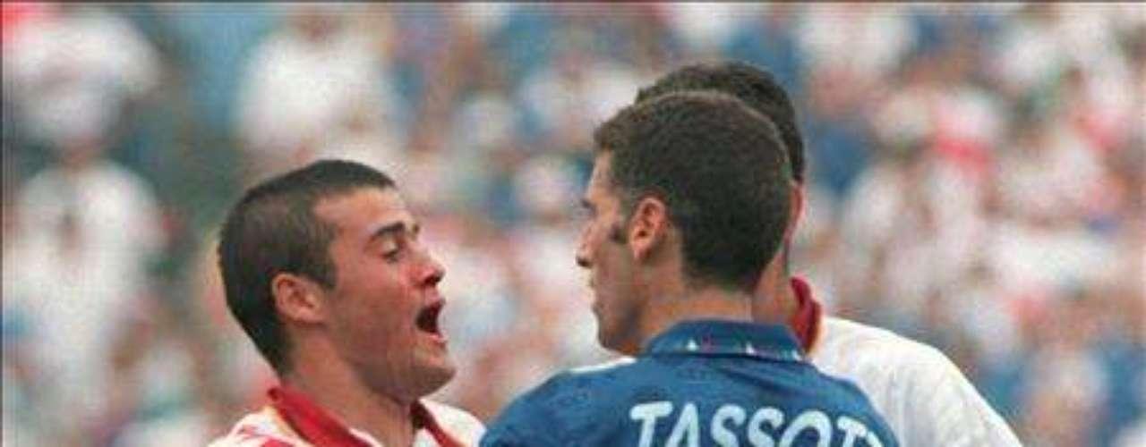 Mauro Tassoti no se quitó nunca el estigma de 'sucio' tras agredir al español Luis Enrique con un codazo artero en la Copa del Mundo de Estados Unidos '94.