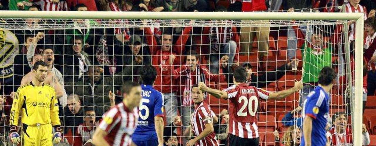 Sin embargo, el conjunto español reaccionó y llegó al empate con los goles de Herrera (en el minuto 48) y de Aduriz (55).