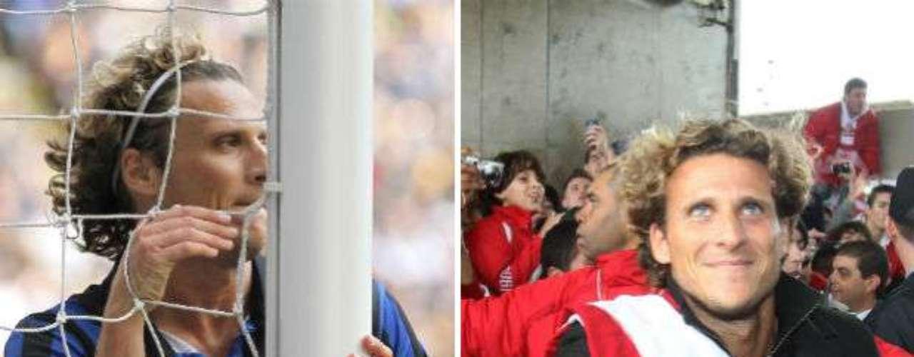 Pese a su gran calidad, el uruguayo Diego Forlán no ha podido echar raíces en algún club. Suma seis camisetas en su carrera. Ha militado en Independiente, Manchester United, Villarreal, Atlético de Madrid, Inter de Milan y actualmente Inter de Porto Alegre.