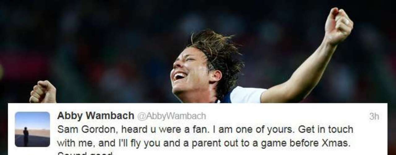 And finally, Abby Wambach tweeted about the 9-year-old girl who is dominating boys' football.
