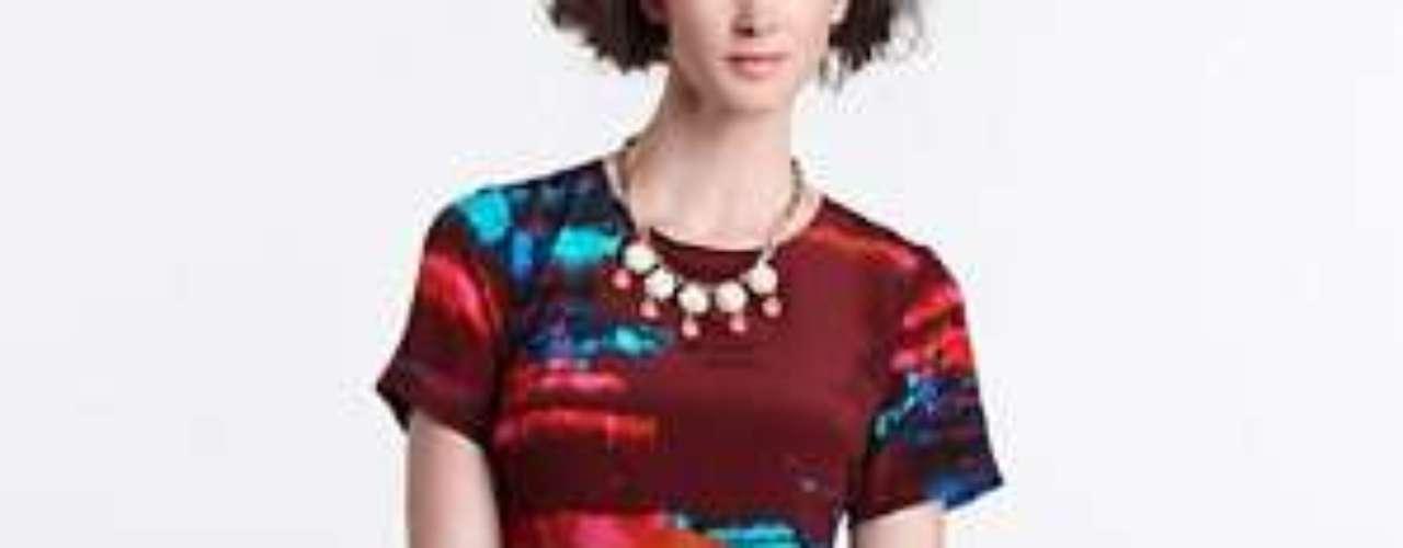 Deja que tu sonrisa sea el mejor accesorio para este colorido vestido. 298 dólares en anthropologie.com.