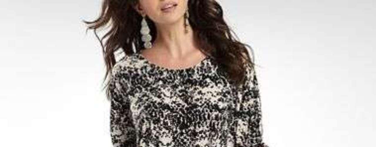 Vestido 'colorblock' para ponerle más color a las fiestas. 35 dólares en jcpenney.com.