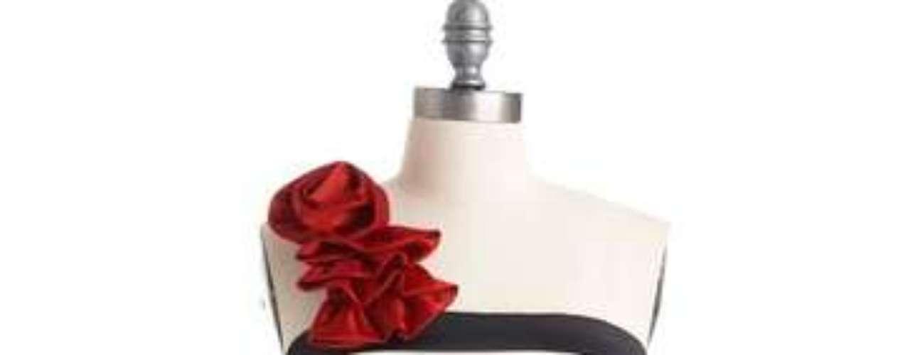 Para bailar y bailar. Vestido a rayas con flor. 58 dólares en modcloth.com