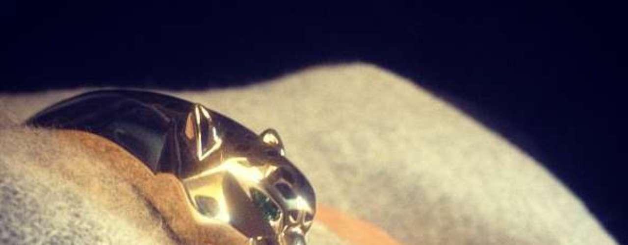 Pero no todo fue sexoso ya que la Kardashian también compartió con sus seguidores una foto de una pulsera muy original, un tigre.
