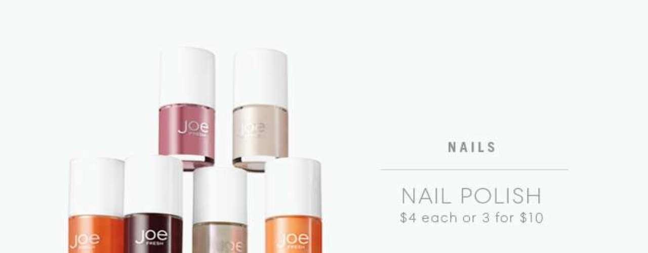 Pintura de uñas de múltiples colores. 3 por 10 dólares en Joe Fresh.