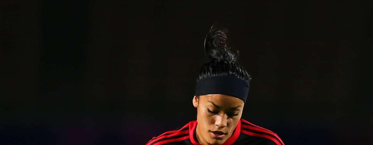 La mexicana Olivia Jiménez sacó un soberbio disparo de media distancia, imposible para la arquera suiza, en el duelo entre mexicanas y helvéticas en el Mundial Sub20 femenino.