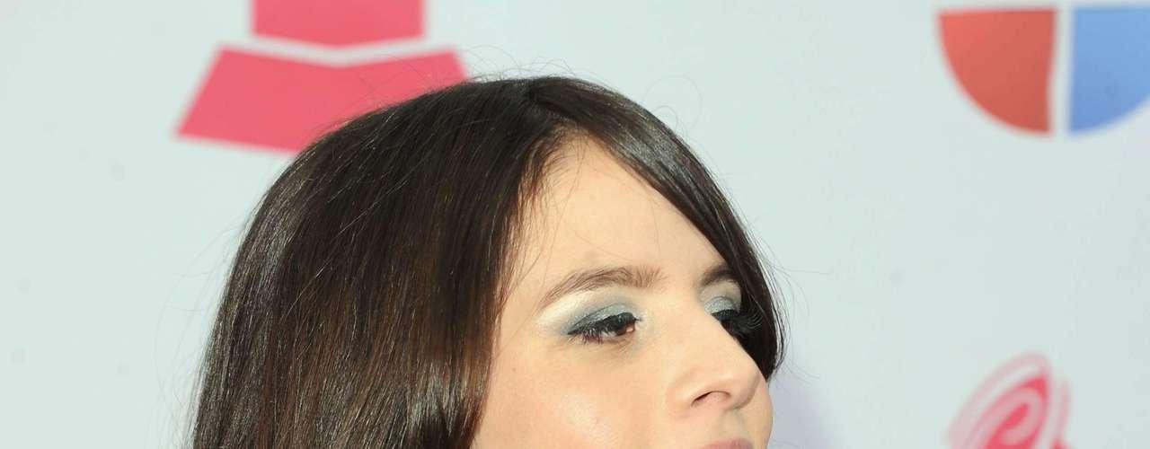 La cantante Rosario Ortega sacó su mejor pose en la alfombra verde del Latin Grammy 2012, realizado en el Mandalay Bay Events Center de Las Vegas, Nevada.