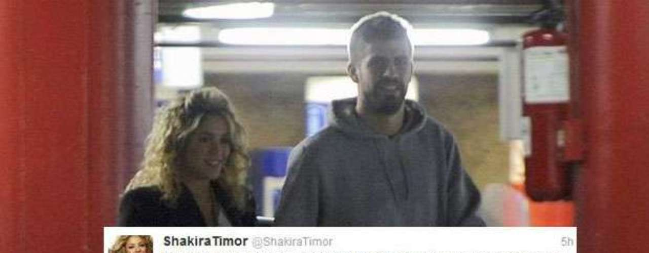 Shakira and Pique were photographed leaving the cinema. But what did they watch? We're thinking it was Cloud Atlas.