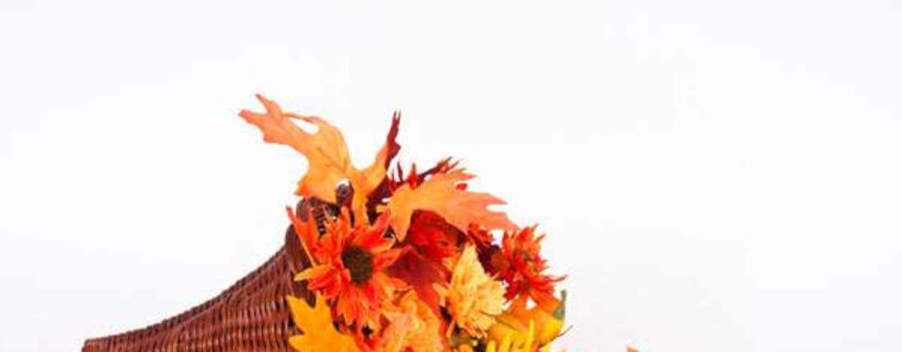 Usa los frutos y las hojas secas con algunos calabacines para decorar.