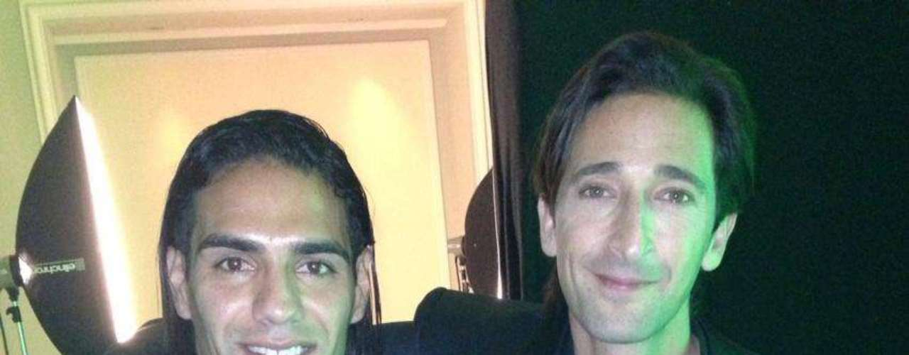 Falcao posed with actor Adrien Brody, who won the Best International Actor award.