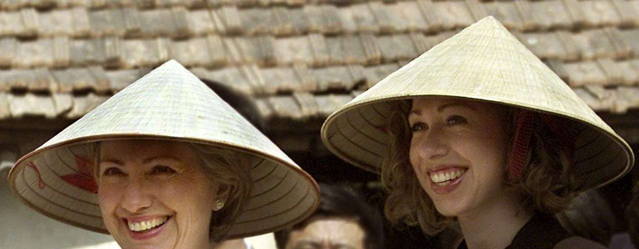 Her youth and energy were evident. Hillary Clinton confidently assumed the role of a politician's wife, but spending time with her daughter Chelsea as well. In 2000 she visited with Chelsea, Bac Phu, a rural area of Vietnam to analyze microcredit projects for the poor women in the area.