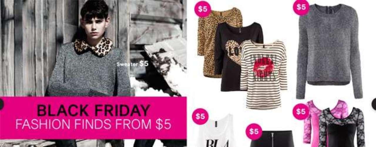H&M ofrece unas fantásticas ofertas para este Black Friday para toda la familia. Las mujeres pueden encontrar suéteres para el otoño y vestidos para las fiestas que empiezan en $5, mientras que los hombres pueden comprar pantalones por solo $10. Además, los padres pueden encontrar ofertas increíbles para los niños, como chaquetas ¡por solo $10!