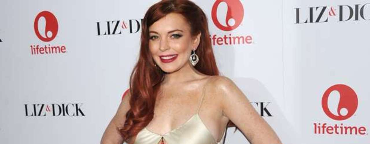 Lindsay Lohan cleaned up pretty good last night for the \