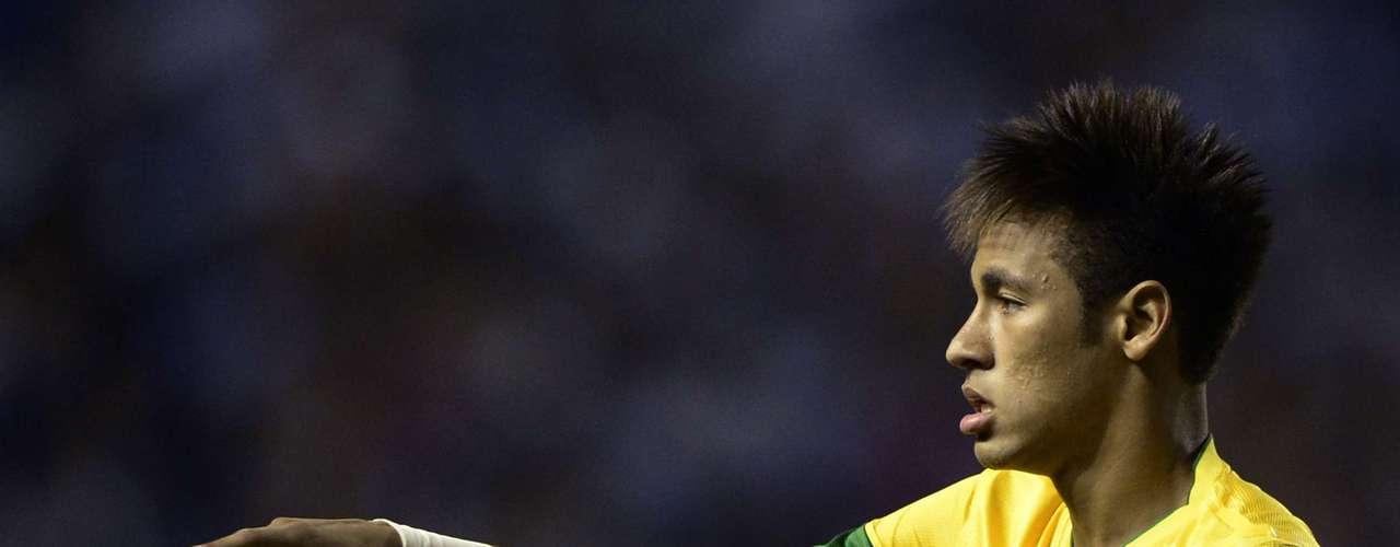Brazil's forward Neymar gestures during the Americas' Super Derby.
