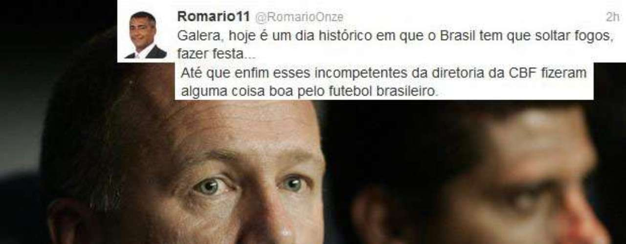 Romario pulls no punches in taking shot after shot after just-fired Brazil coach Mano Menezes. He says the country should have a party (after the firing), calls the country's soccer governing federation \
