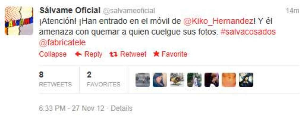 En directo, el colaborador Kiko Hernández relataba cómo alguien había intentado entrar en su teléfono.