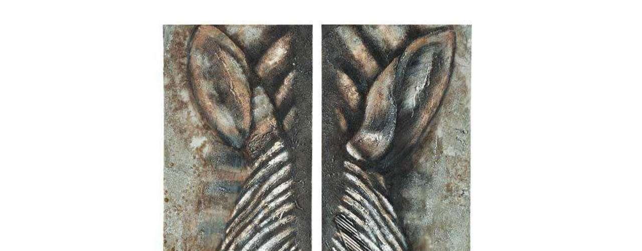 El díptico Zenaba de Maisons du Monde invita a adentrarse en el corazón de la sabana africana. Esta pintura sobre bastido de abeto cuesta 129 euros.