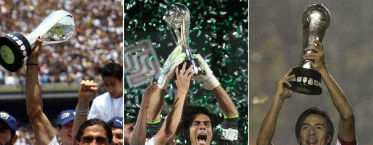 A lo largo de 16 años, desde la instauración de torneos, el futbol mexicano ha tenido campeones de todos los \