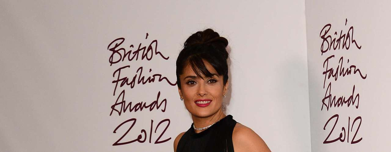 Salma Hayek at the 2012 British Fashion Awards in London.