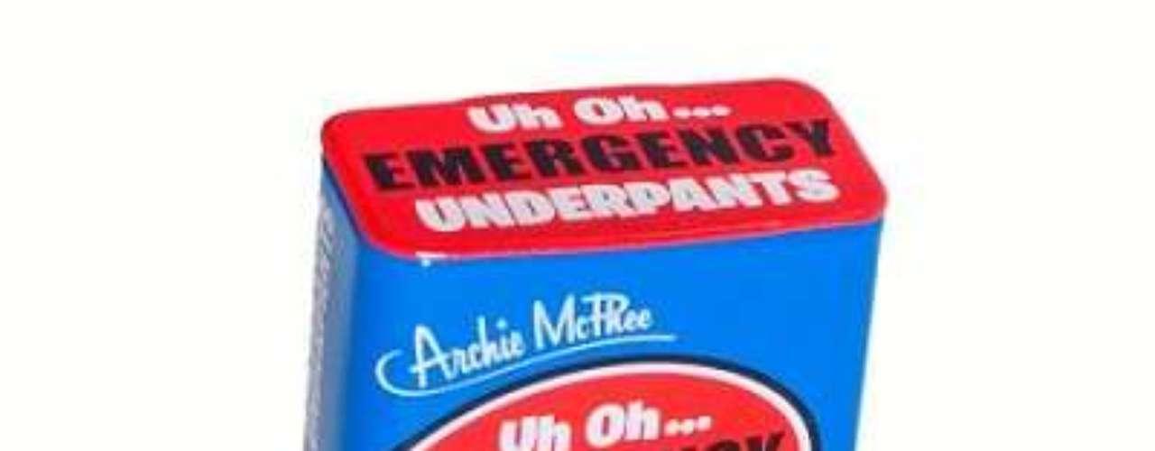 Calzones de emergencia: para los que no llegan al baño a tiempo, unos calzones listos para salvar el momento.