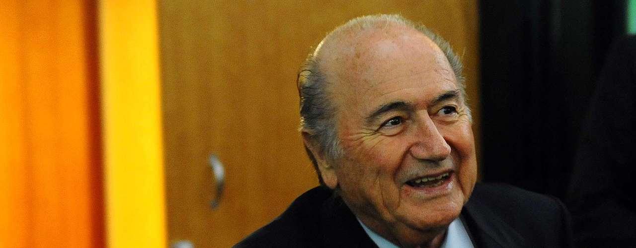 El presidente de la FIFA, Joseph Blatter, participó en el evento por espacio de 30 minutos.