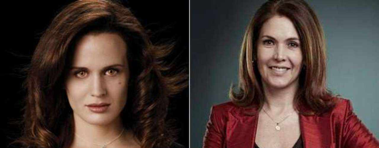 Como pareja de Carlisle en la que sería la versión colombiana de la saga 'Crepúsculo' tenemos a Ana Bolena Meza interpretando a Esme Cullen.