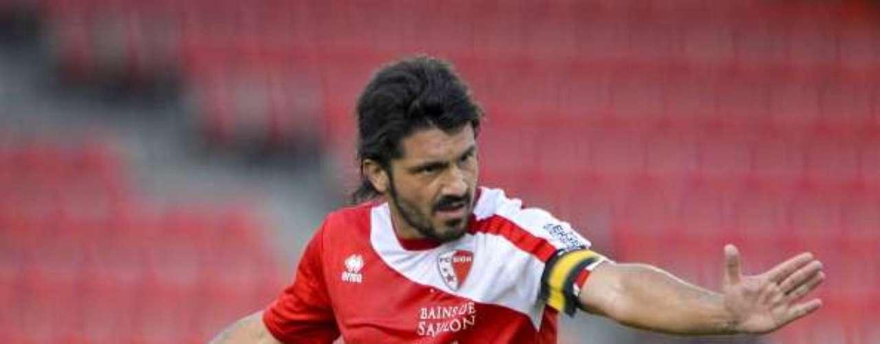 El caracter y la entrega de Gennaro Gattuso provocó que muchos lo llamaran 'RIno'.