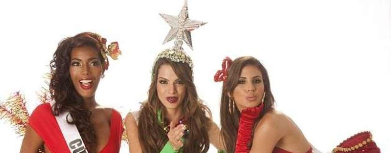 ¡Mejor que un regalo de Santa! Estas misses, ya preparándose para la gran noche de Miss Universo, celebran muy sexy el espíritu navideño