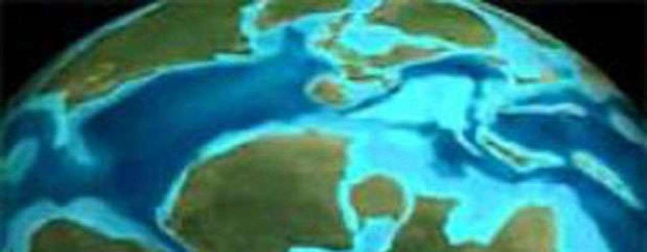 El desplazamiento de los continentes.- Alfred Wegener propone que los continentes antiguamente formaron una única masa de tierra, la cual se separó. Por eso los continentes en un mapa casi se pueden unir como en un rompecabezas.