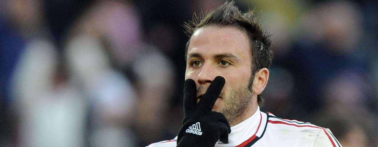 AC Milan's Giampaolo Pazzini celebrates after scoring.