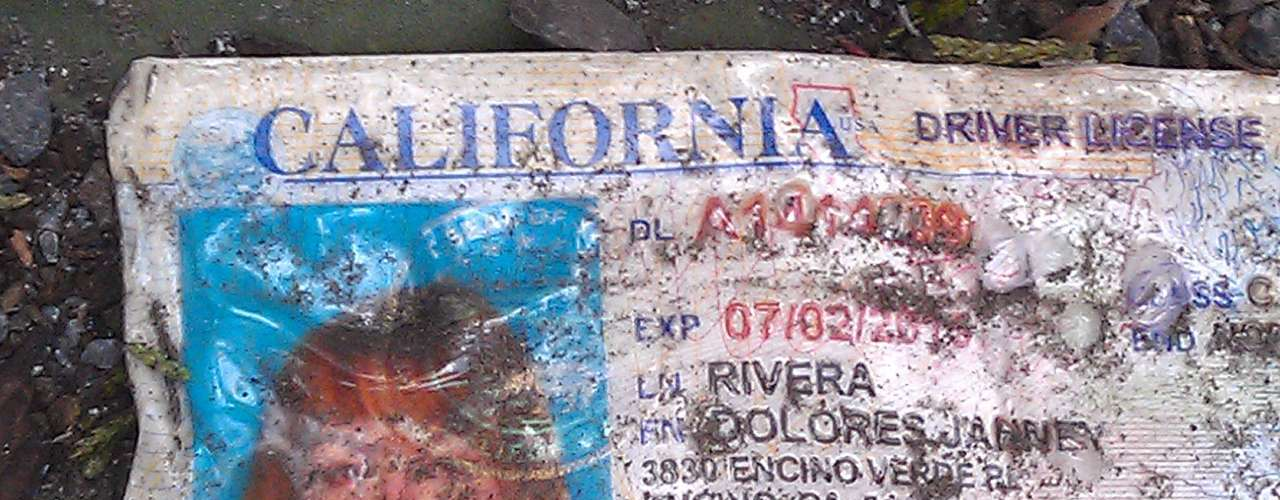 Rivera's driver license was amongst the items found at the scene of the accident.
