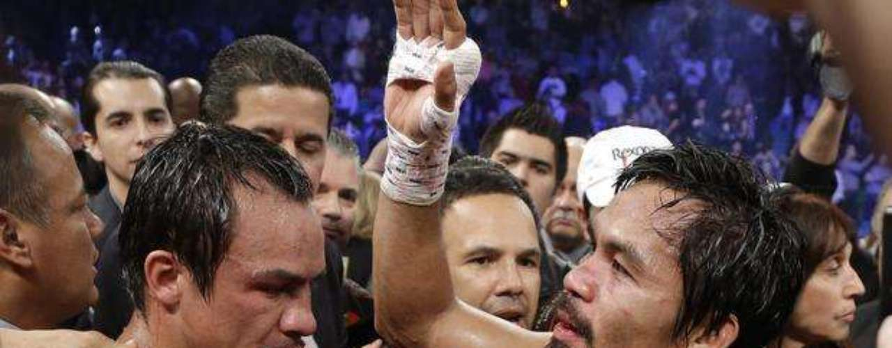 'The first thing I would like to do is thank God for keeping Juan Manuel Marquez and I safe last Saturday night,' Pacquiao said in a statement. 'Congratulations to Juan Manuel. There are no excuses on my part. It was a good fight and he deserved the victory. I think the fans who saw us fight also won.'