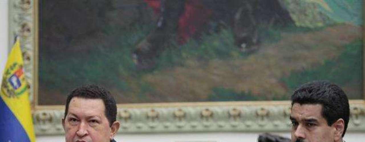 Así lucía Chávez el sábado 8 de diciembre de 2012 cuando anunció que se someterá a una nueva cirugía en Cuba tras la reaparición de \