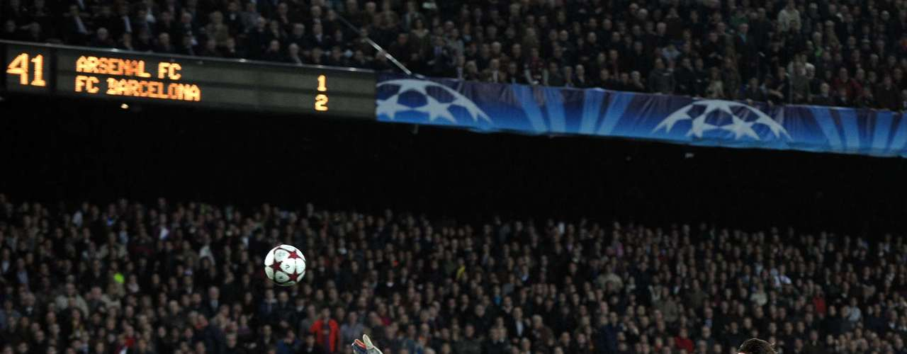 In 2010, Messi scored four goals for the first time in his career in a 4-1 win over Arsenal in the Champions League quarter-final.