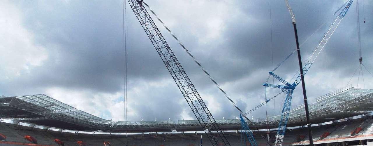 13 de diciembre de 2012: Con un 77 por ciento de conclusión, la Arena Pernambuco planea terminar el año 2012 con un índice del 85 por ciento de avance; la expectativa inicial era que el estadio fuera concluido antes del término de año.