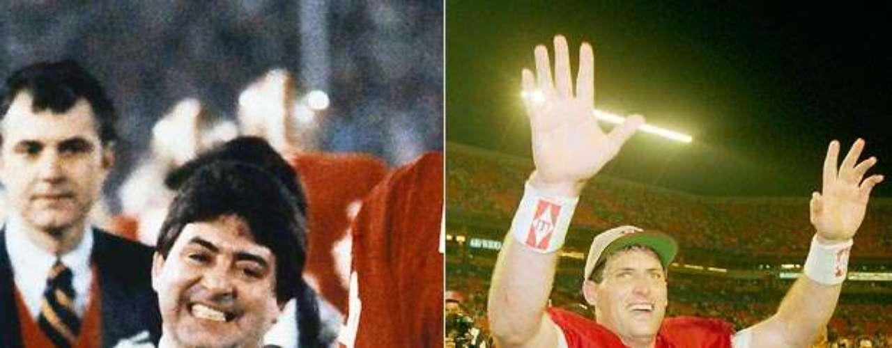 Los 49ers de San Francisco eran una franquicia olvidada cuando Eddie DeBartolo Jr. los compró en 1977. A los cinco años, en los que fueron campeones del Super Bowl, fundó una dinastía en la que los Niners ganaron cinco Super Bowls en un lapso de 15 años. Problemas legales de DeBartolo le obligó a ceder el control del equipo en el 2000, y no tan casualmente, los Niners rara vez se han destacado desde entonces.