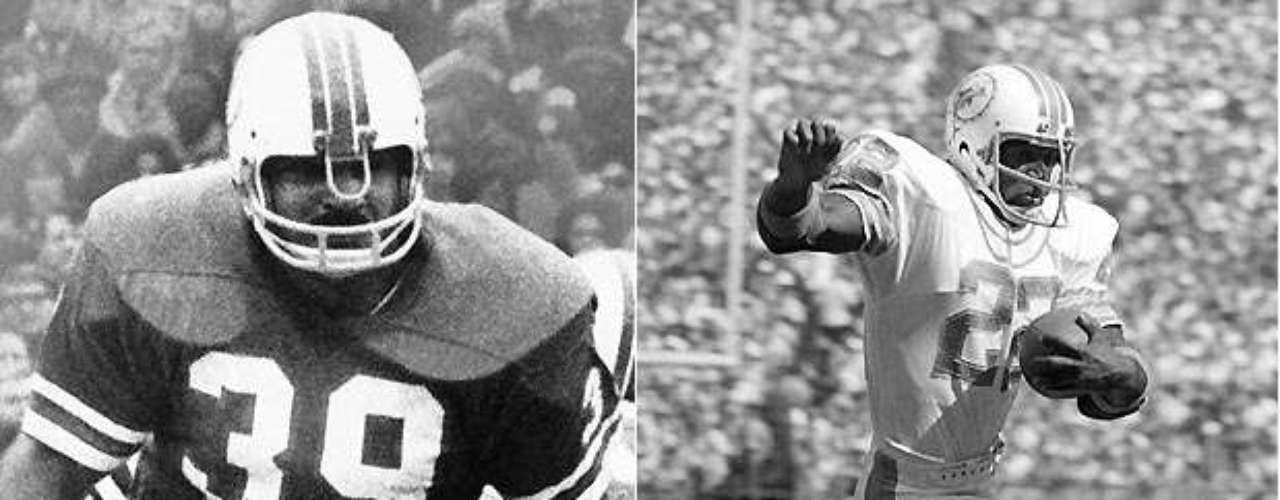 Larry Csonka (izquierda) y Mercury Morris fueron el dúo perfecto en la temporada perfecta, porquese convirtieron en el primer dúo en el mismo equipo en correr para más de 1.000 yardas. Los Dolphins fueron a tres Super Bowls consecutivos desde 1972 hasta 74 con la pareja en el backfield, con Csonka ganando el MVP en el Super Bowl VIII, en el triunfo de Miami. Csonka posteriormente fue elegido al Salón de la Fama.