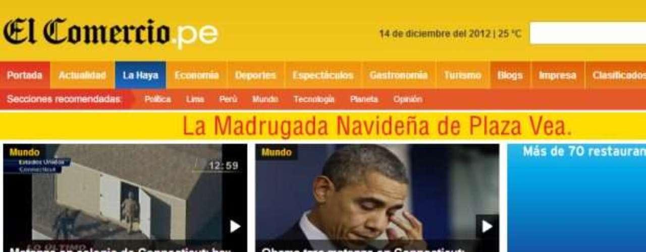 Diario de El Comercio de Ecuador.