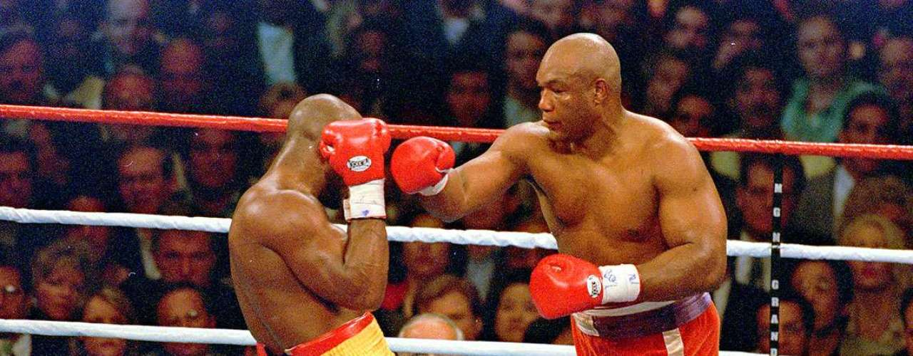 George Foreman; Récord: 76-5, 68 KO; Años en activo: 1969-1997; Títulos: World Heavyweight, FIB/AMB Heavyweight