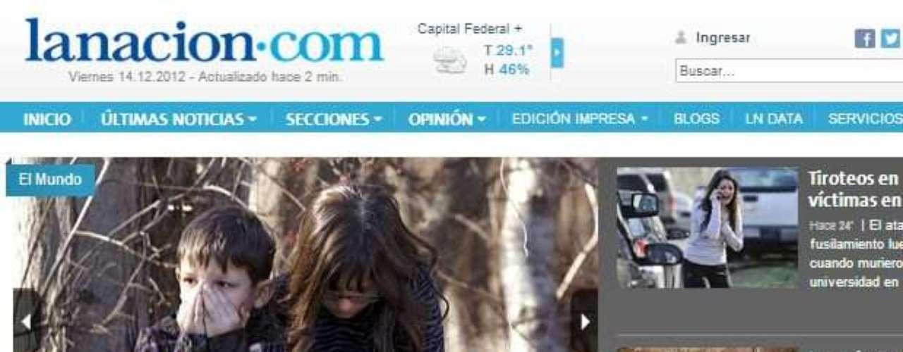 Portada del Diario La Nación de Argentina.