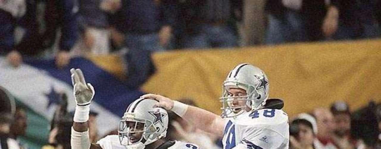 Daryl Johnston (derecha) ayudó a Emmitt Smith a ganar cuatro títulos en 1991, 1992, 1993 y 1995, y la pareja llevó a los Dallas Cowboys a tres victorias de Super Bowl en cuatro años. Smith fue el Jugador Más Valioso del Super Bowl XXVIII, y llegó al Salón de la Fama. Además de su bloqueo, Johnston fue también un buen receptor saliendo del backfield, y una válvula de seguridad para el mariscal Troy Aikman.