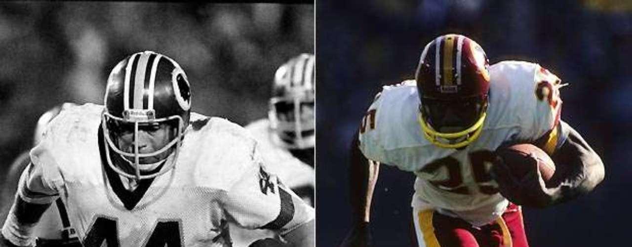 Otra situación en la que el defensa fue el ballcarrier principal y el corredor fue el corredor de cambio de ritmo, John Riggins (izquierda) y Joe Washington se unieron para llevar los Redskins de Washington a dos Super Bowls consecutivos en 1982 y 1983. Riggins ganó el MVP en el Super Bowl XVII después correr para un récord en ese entonces de 166 yardas en 38 acarreos, y anotó el TD ganador. Un año más tarde, Riggins estableció un récord de la NFL con 24 touchdowns, mientras los Redskins establecieron el récord de puntuación de la NFL. Washington corrió para 772 yardas en 1983 y anotó seis touchdowns. Riggins posteriormente fue elegido al Salón de la Fama.