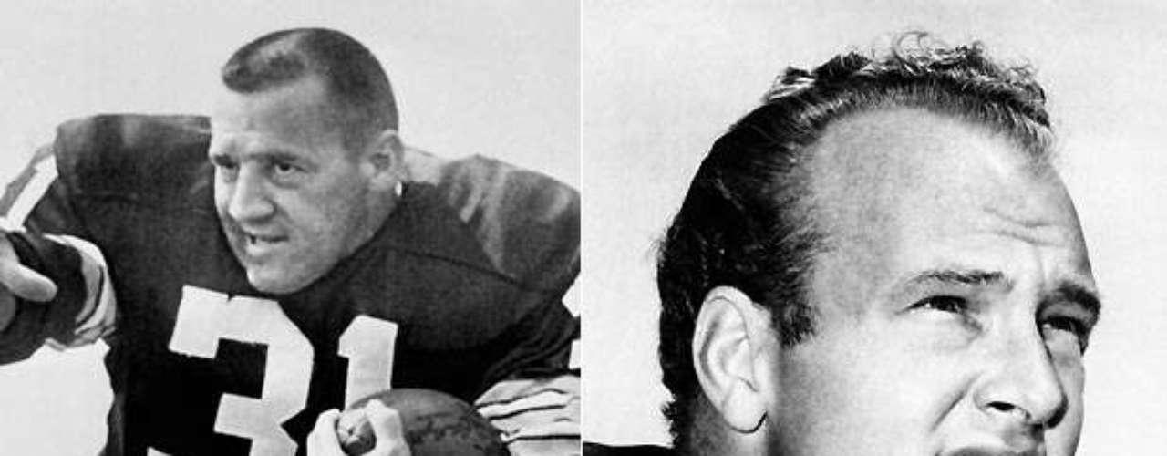 Jim Taylor (izquierda) y Paul Hornung fueron el yin y el yang de la ofensiva de Green Bay Packers en la década de 1960, impulsando el famoso 'Sweep Packer' a cinco títulos de la NFL. Taylor era el único hombre que podía batir al gran Jim Brown por el título corriendo en 1962, y Hornung fue el Jugador Más Valioso de la Liga en 1961, y marcó un récord de la NFL en 1960 que se mantuvo por 46 años, cuando marcó 176 puntos. Ambos hombres fueron consagrados en el Salón de la Fama.