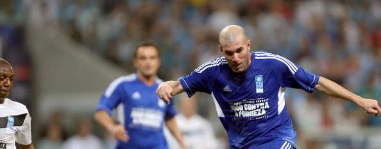 Even in retirement, Zidane still shows his amazing talent and was one of the standouts of the match.