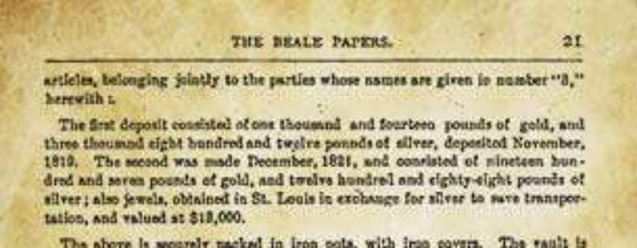 Los cifrados de Beale: La veracidad o falsedad de los cifrados de Beale ha sido motivo de fascinación para los criptógrafos desde que el misterioso manuscrito apareciera publicado en un panfleto llamado The Beale Papers en donde se reconstruía la historia de un tesoro enterrado.