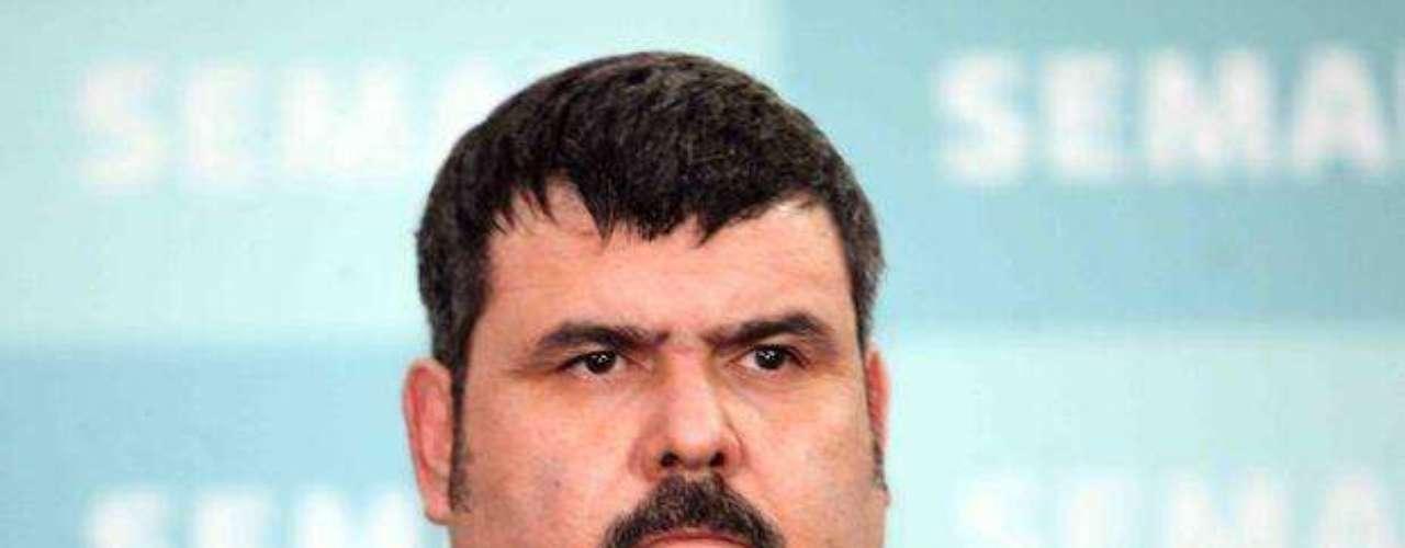 13 de septiembre del 2012.- La Marina presentó a Eduardo Costilla Sánchez, alias \