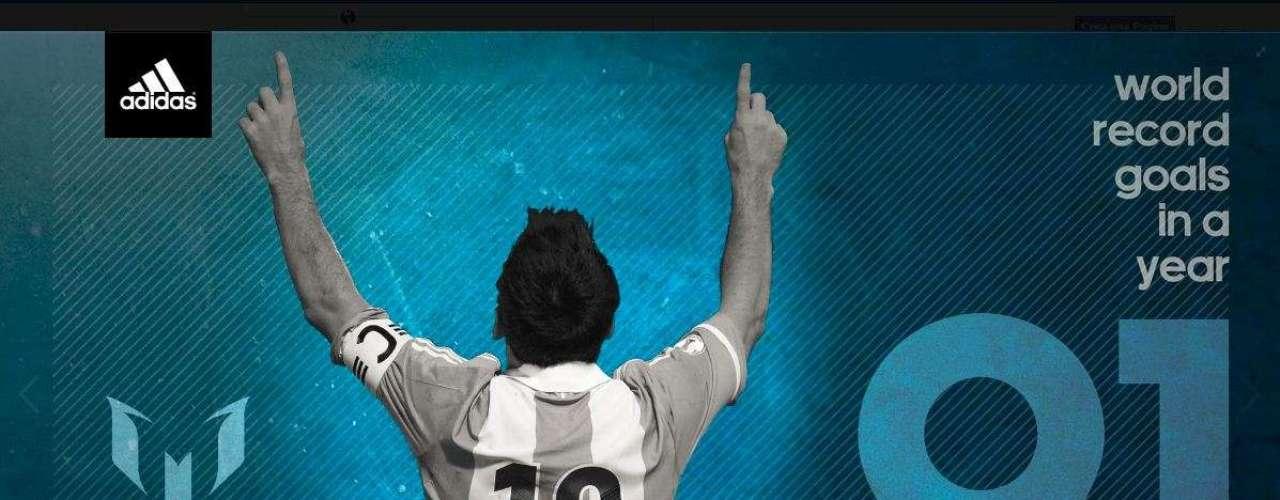 Poco después de anotar ante el Valladolid su gol número 91 de 2012, Lionel Messi compartió esta imagen en su página de Facebook.