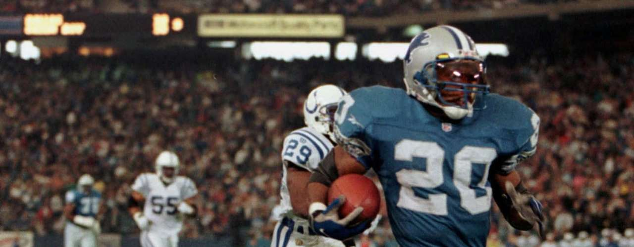 The Detroit Lion's Barry Sanders rushed for 2,053 yards in 1997 when he won the NFL MVP award.