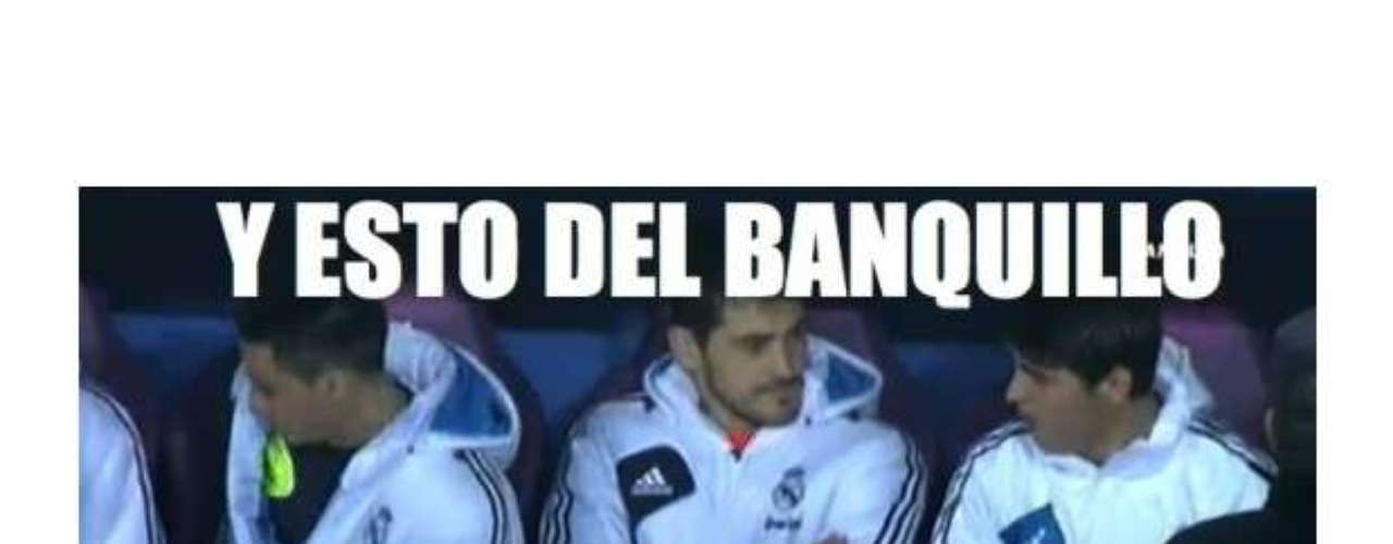 This meme acknowledges the benching of Iker Casillas. The caption reads, \