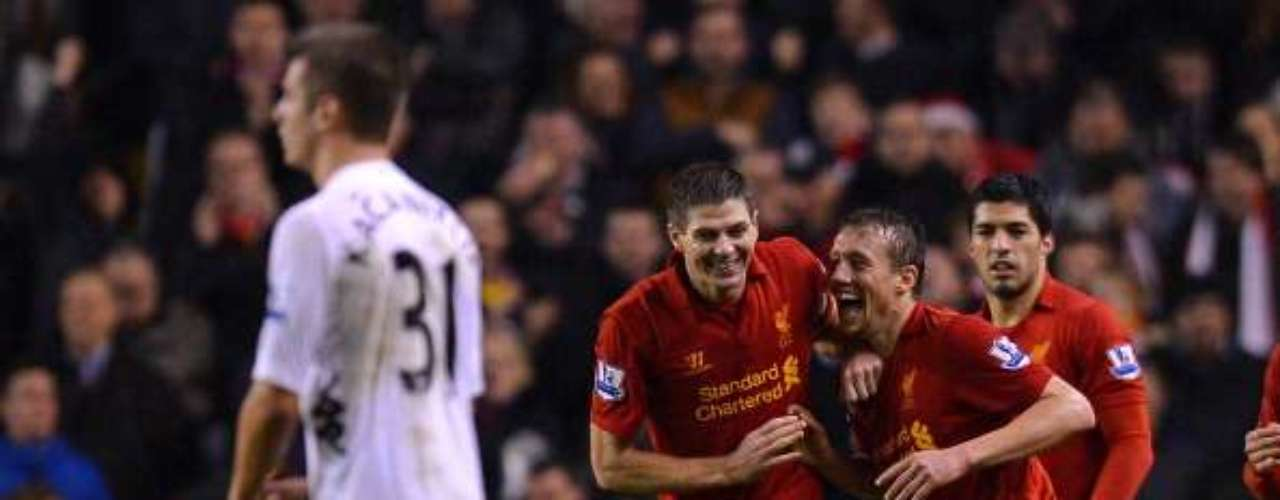 Liverpool routed Fulham 4-0 to move up four places into eighth.